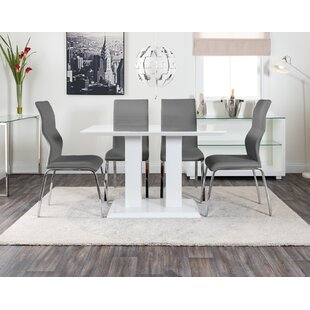 Hearld Dining Set With 4 Chairs By Wade Logan