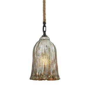 Bungalow Rose Marjane 1-Light Bell Pendant