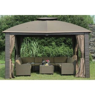 Replacement Canopy for 10' W x 12' D Riviera Resin Gazebo by Sunjoy