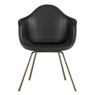 NyeKoncept Classroom Genuine Leather Upholstered Dining Chair