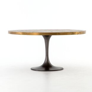 17 Stories Sommer Iron Base Dining Table