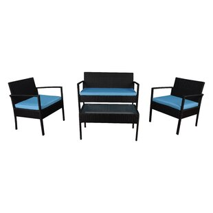 4 Piece Sofa Set With Cushions by Madison Home USA New