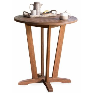 Plow & Hearth Eucalyptus Outdoor Wooden Bistro Table