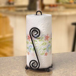 Jessica Paper Towel Holder in Black