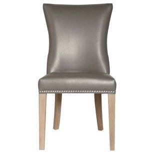 Tobias Wooden Leatherette Upholstered Dining Chair (Set Of 2) by Foundry Select Sale
