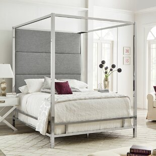 Moyers UpholsteredCanopy Bed by Mercury Row