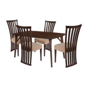 Jason 5 Piece Solid Wood Dining Set by Eb..
