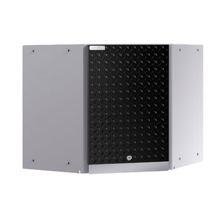 Performance Plus 2.0 Diamond Plate Series Corner Wall 22 H x 24 W x 24 D Storage Cabinet by NewAge Products