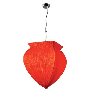 Schulte 1-Light Urn Pendant by World Menagerie