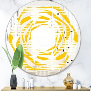 Whirl Abstract Geometric IV Modern Wall Mirror by East Urban Home