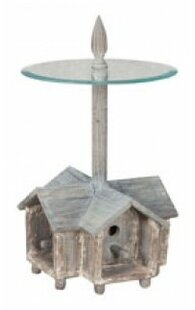 August Grove Landrienne Birdhouse End Table