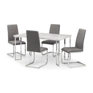 Savana Dining Set With 4 Chairs By Metro Lane