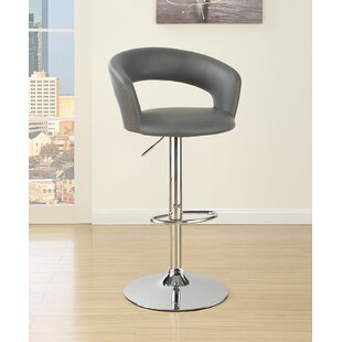 Zubin Adjustable Height Swivel Bar Stool Orren Ellis