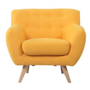 Yellow Mid Century Chair | Wayfair
