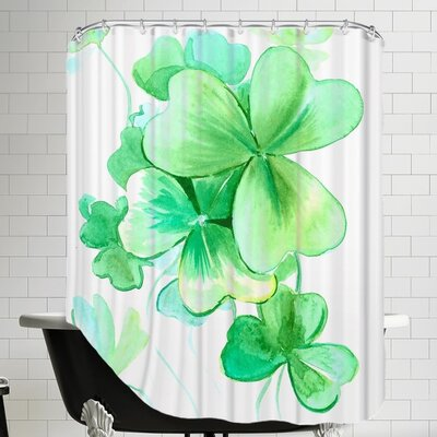 The Holiday Aisle Shamrock Shower Curtain | Wayfair