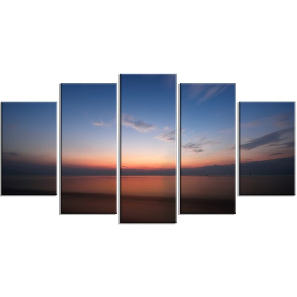 Designart Ko Samui Sea Sunrise Panorama 5 Piece Photographic Print On Wrapped Canvas Set Wayfair