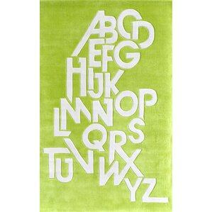 ABC Hand Tufted Chartreuse Green Area Rug
