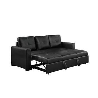 Zipcode Design Sabine 43 31 Wide Armless Sleeper Sofa Bed Reviews Wayfair