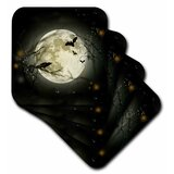 3dRose cst/_6812/_3 A Trip to The Moon 1902-Ceramic Tile Coasters Set of 4