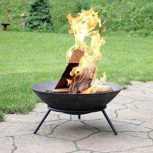 Eckard Raised Cast Iron Wood Burning Fire Pit