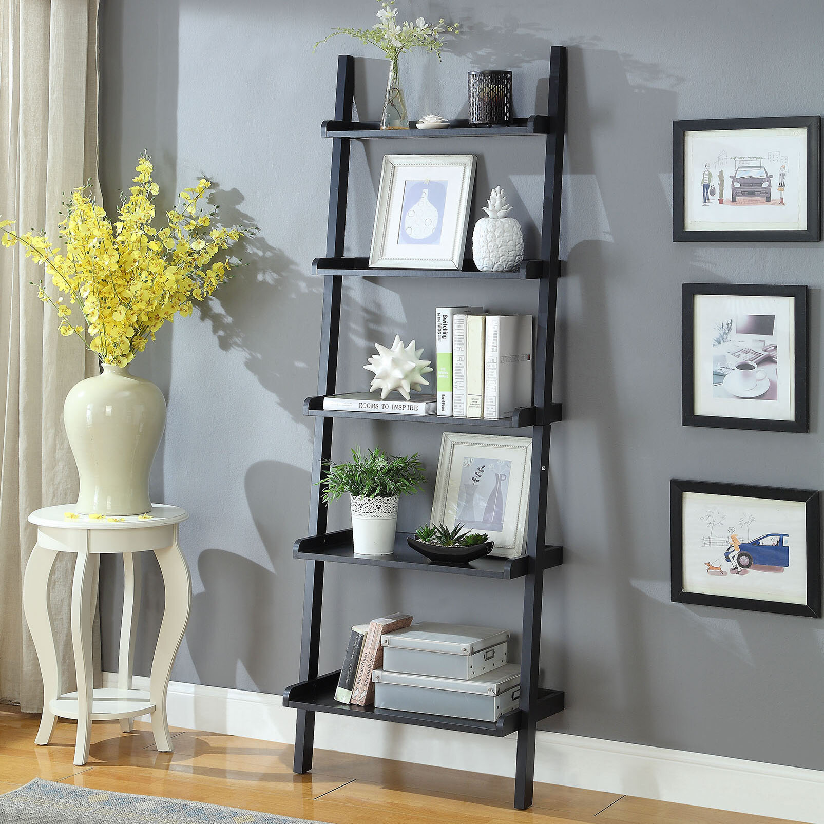 Enger Wall Ladder Bookcase