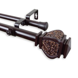 Margot Double Curtain Rod and Hardware Set