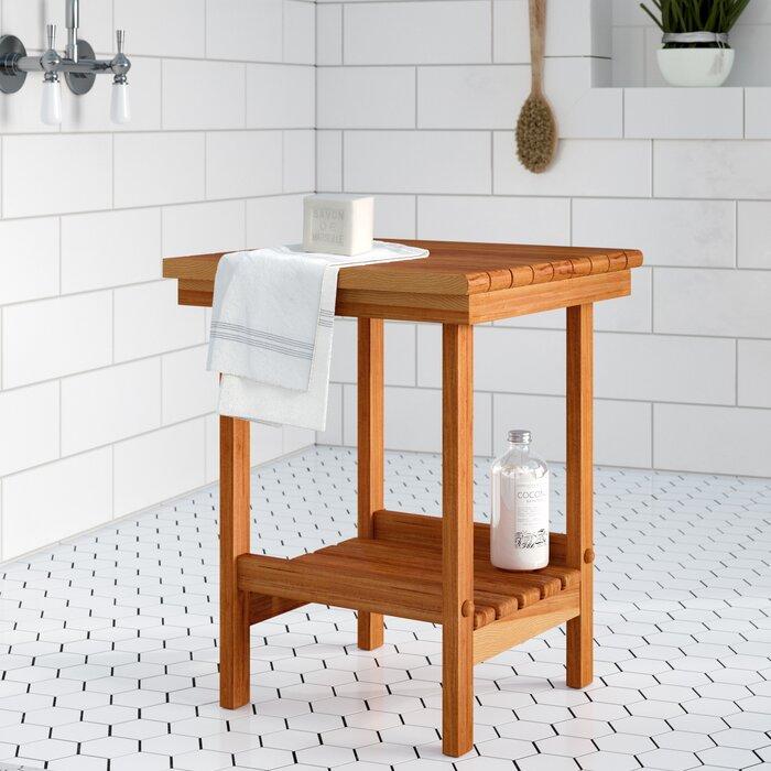 Nempnett Thrubwell Teak Shower Seat