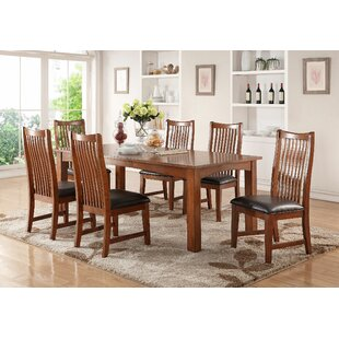 Fort Kent 7 Piece Solid Wood Dining Set Loon Peak