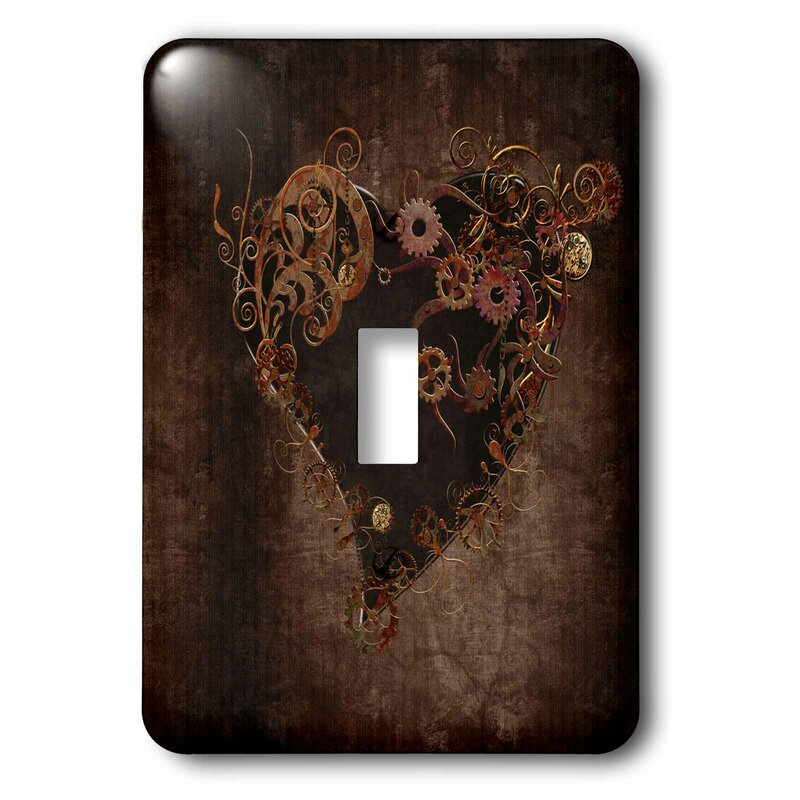 3drose Decorated Steam Punk Heart 1 Gang Toggle Light Switch Wall Plate Wayfair