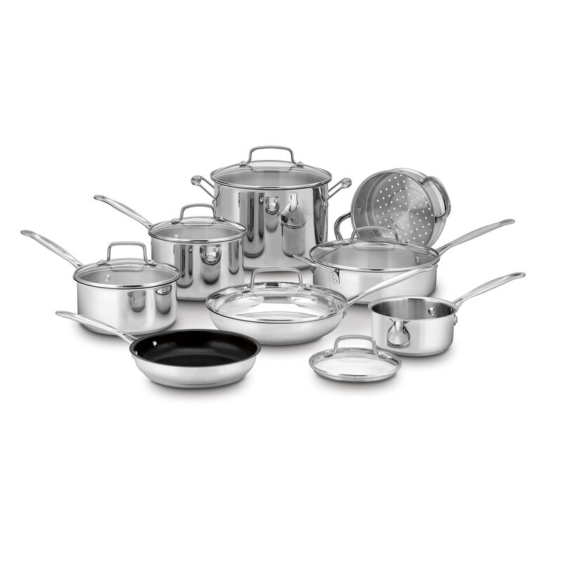 14-Piece Stainless Steel Cookware Set
