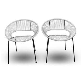 Ehrlich Stacking Patio Dining Chair (Set of 2)