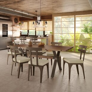 17 Stories Darcelle 5 Piece Solid Wood and Metal Dining Set