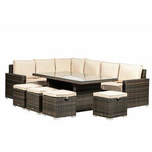 10 Seater Rattan Sofa Set By Sol 72 Outdoor