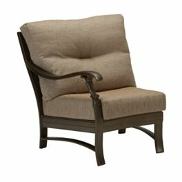 Ravello Right Side Crescent Module Patio Chair with Cushions