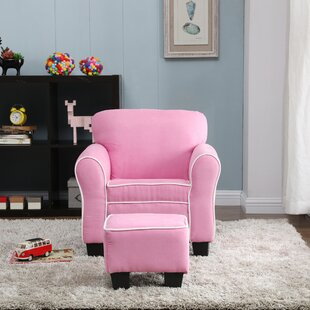 Aalborg Kids Chair and Ottoman by Harriet Bee