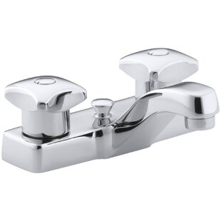 Kohler Triton Centerset Commercial Bathroom Sink Faucet with Pop-Up Drain and Standard Handles