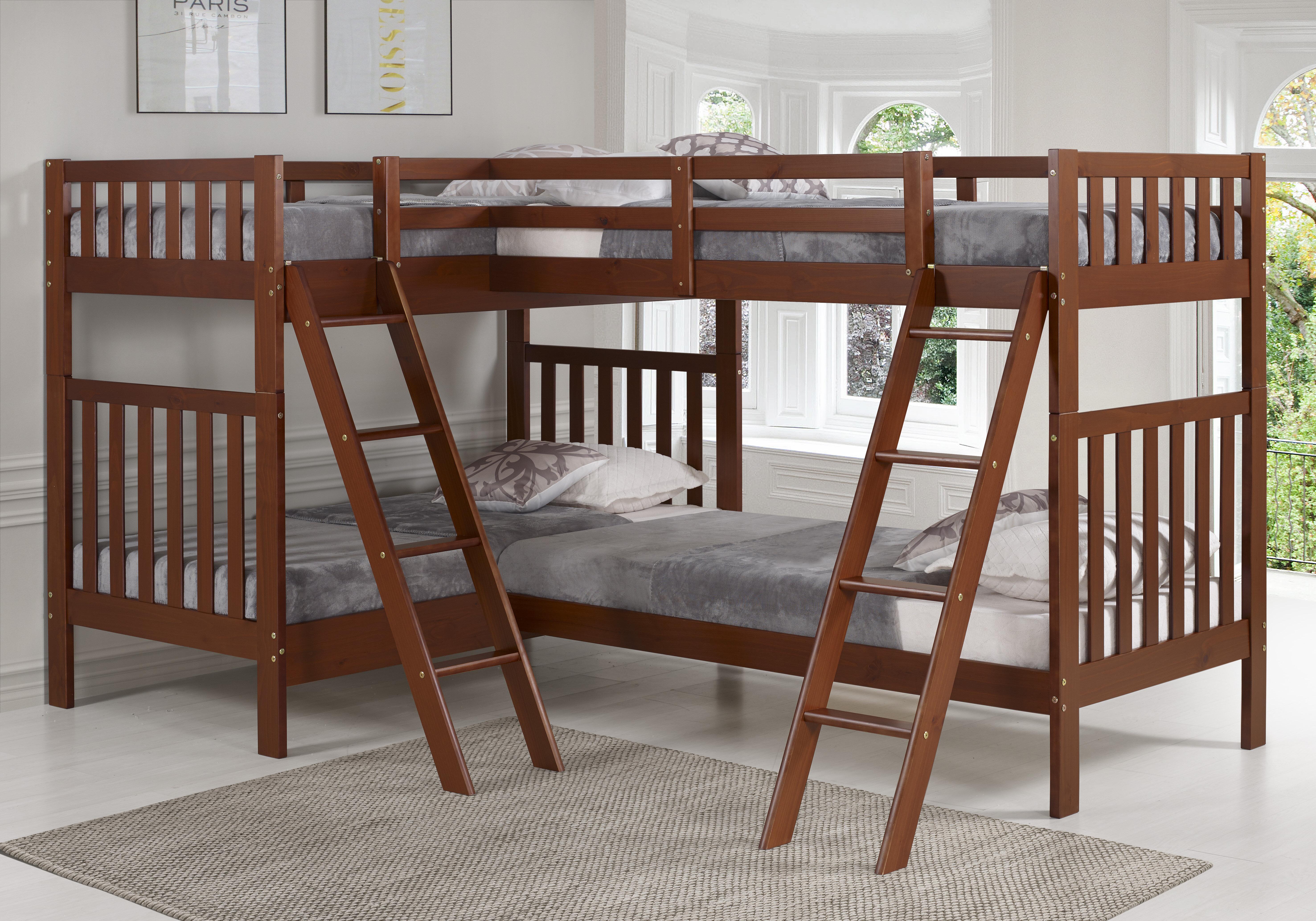 Harriet Bee Crescent Twin Over Twin L Shaped Bunk Bed Wayfair