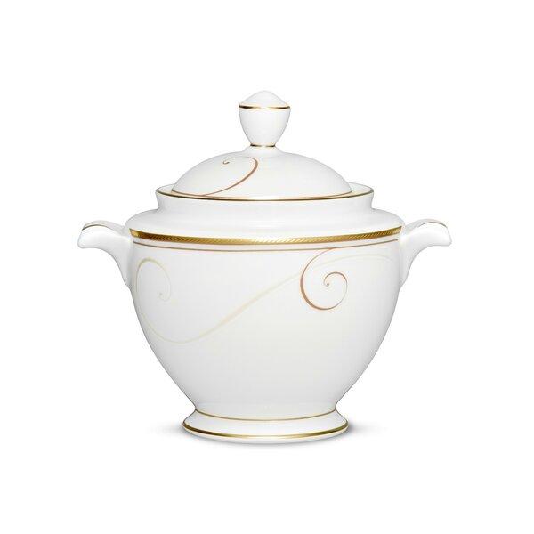 Noritake Golden Wave 8 5 Oz Sugar Bowl With Lid Wayfair