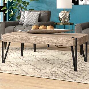 Ivy Bronx Ricarda Wood Top Coffee Table