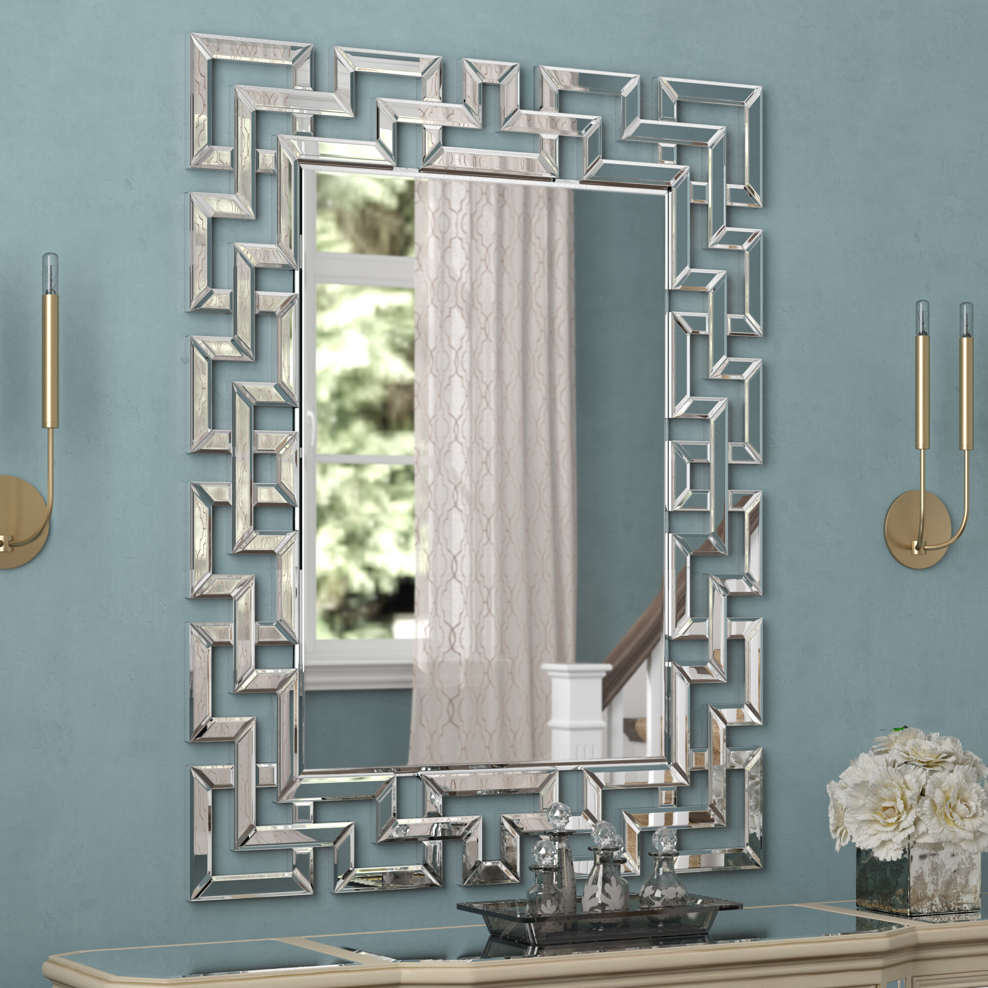 Glam Rectangular Accent Wall Mirror