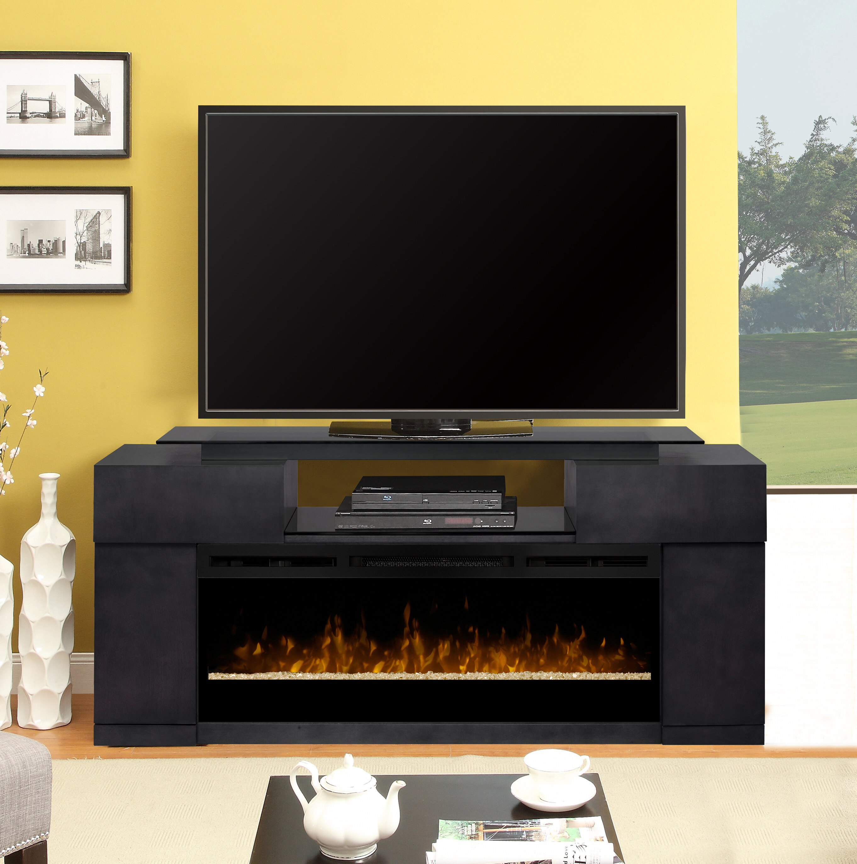 Home Staging Meuble Tv tv stand for tvs up to 78 inches with fireplace included