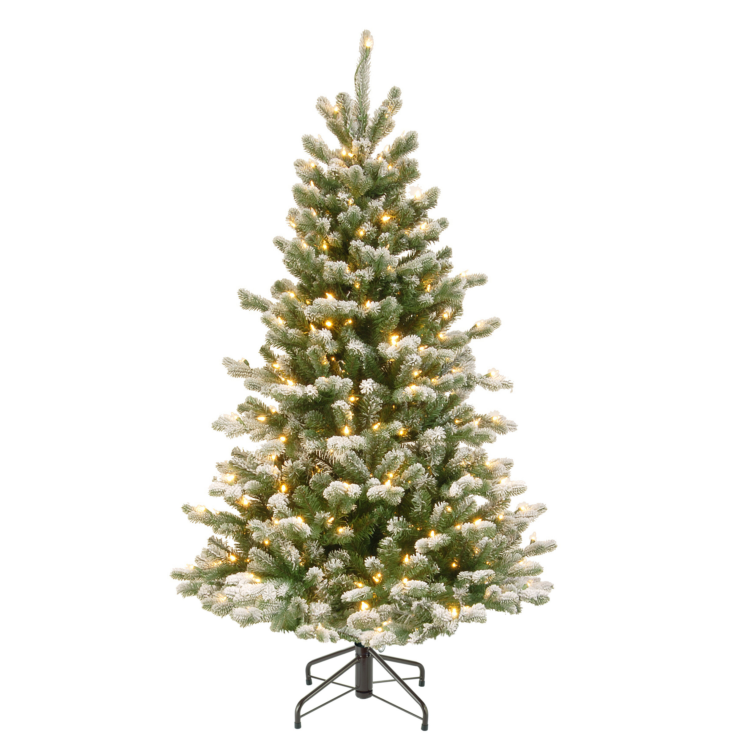 The Holiday Aisle Snowy Sheffield 4 5 Green Spruce Artificial Christmas Tree With 300 Clear White Lights Reviews Wayfair