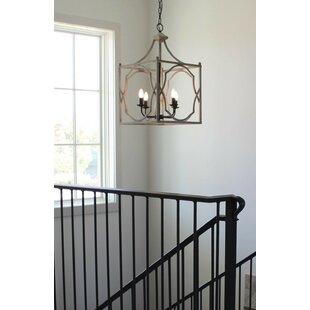 Inexpensive Nickalos 4-Light Foyer Pendant By Gracie Oaks