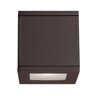 Bargain Rubix 2-Light Outdoor Flush Mount By WAC Lighting