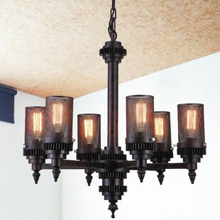 CWI Lighting Vivian 6-Light Shaded Chandelier