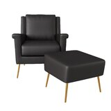 Dever Mid Century 20.5 Armchair and Ottoman by Mercer41