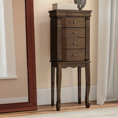 Weirton Jewelry Armoire with Mirror Alcott Hill