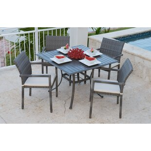Panama Jack Outdoor Newport Beach 5 Piece Dining Set