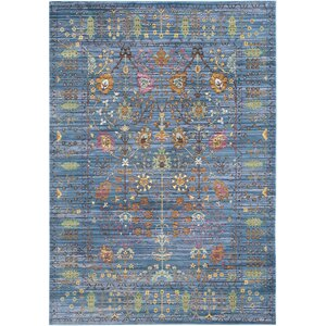 Misael Blue Area Rug