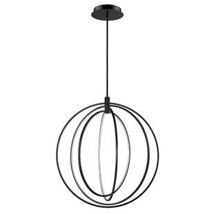 Orren Ellis Concentric 4-Light LED Chande..